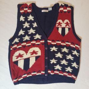 XL Talbots Patriotic Sweater Vest